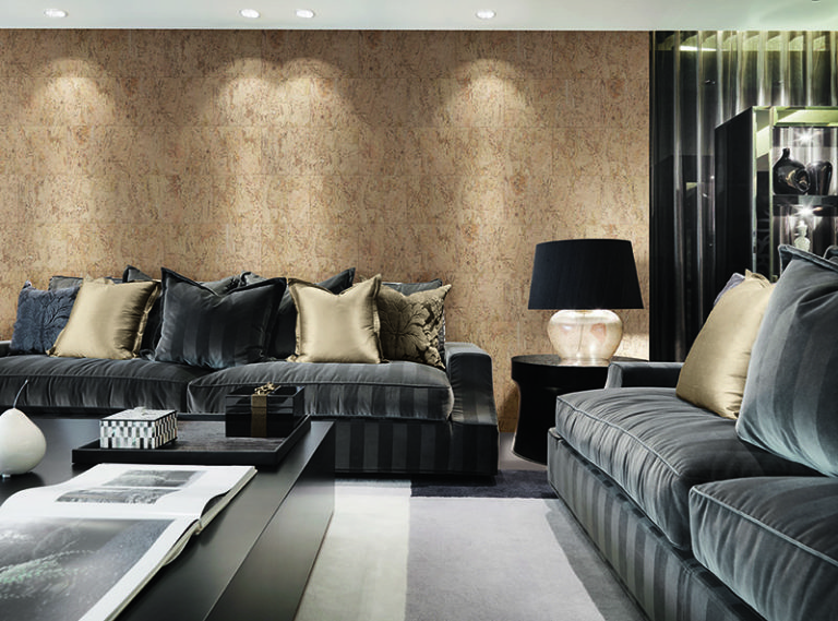 Coffee table and sofas in modern living room
